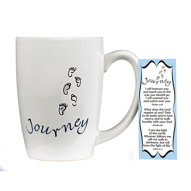 Journey Gift Mug with Bookmark - 4/pk