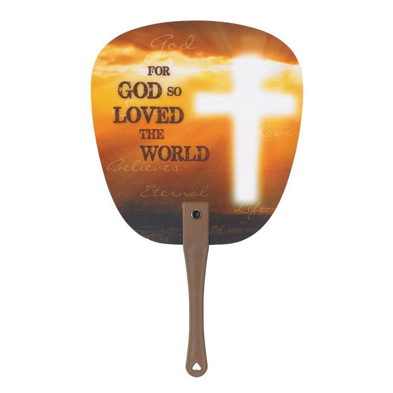 John 3:16 Hand Fan - 24/pk