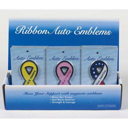 Ribbon Auto Emblem Assortment (3 Asst) - 36/pk