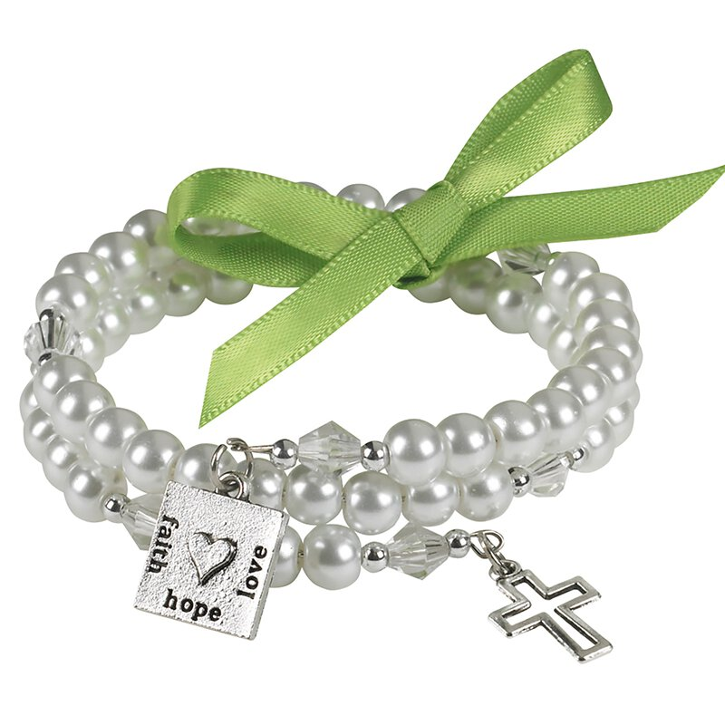 Written Reflections Faith, Hope, Love Wrap Bracelet - 12/pk