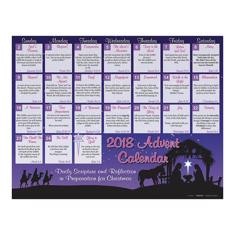 2018 daily scripture and reflection advent calendar 100 pk. Black Bedroom Furniture Sets. Home Design Ideas