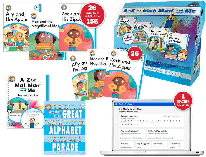 A-Z for Mat Man® and Me: Box Starter Class Set plus Teacher Digital License