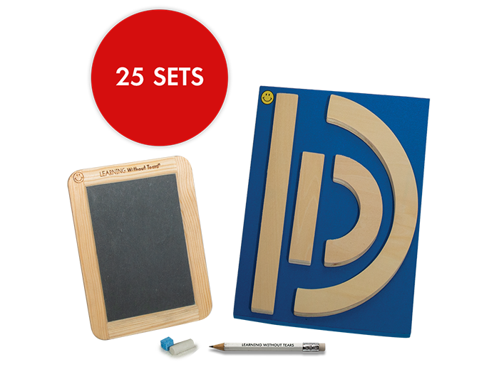 Individual Student Manipulative Pack - Wood Pieces and Slate Chalkboard (25 Sets)
