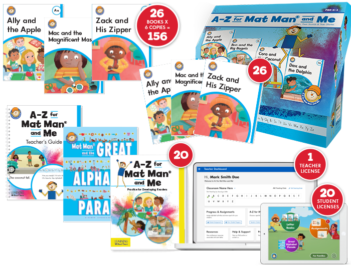 A-Z for Mat Man® and Me: Developing Reader Class Set
