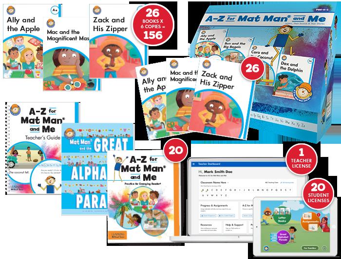 A-Z for Mat Man® and Me: Emerging Reader Class Set