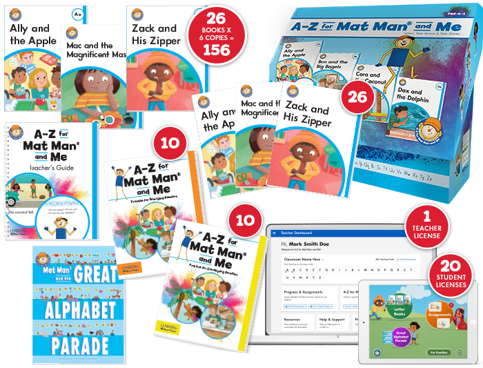 A-Z for Mat Man® and Me: Multi Level Class Set