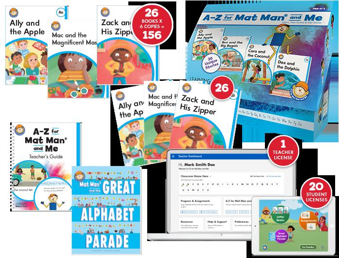 A-Z for Mat Man® and Me: Starter Class Set Plus Digital