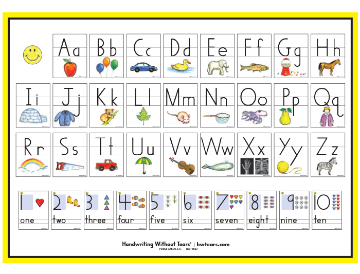 Print Letter Amp Number Poster Learning Without Tears
