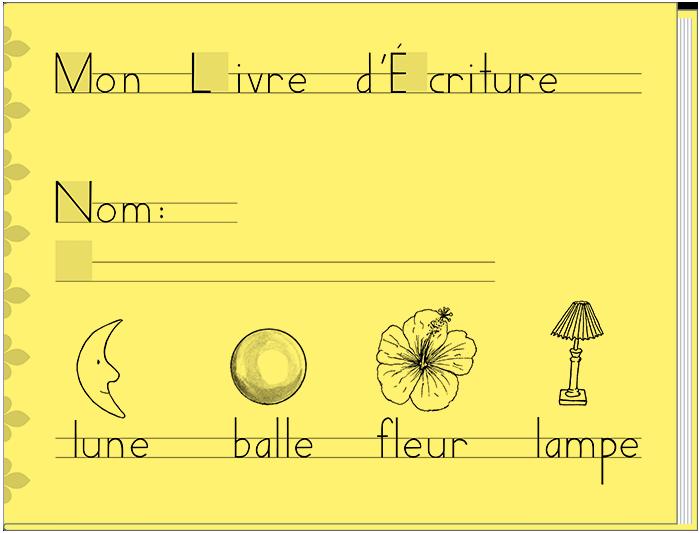 Mon Livre d'ecriture (French)