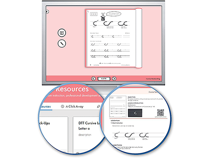 The Handwriting Interactive Teaching Tool™ 3rd Grade - Cursive Handwriting and Escribiendo Cursiva (1-year educator license)