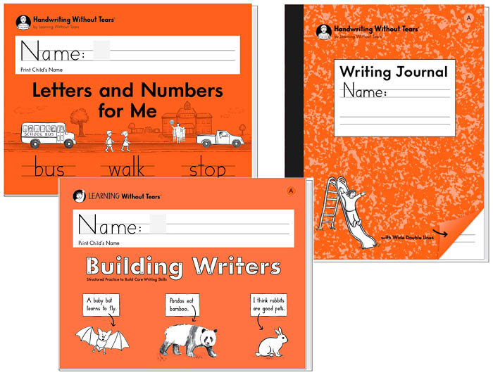 K Student Bundle: Letters and Numbers for Me + Building Writers A + Writing Journal A