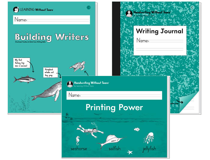 2nd Grade Student Bundle A: Printing Power + Building Writers C + Writing Journal C
