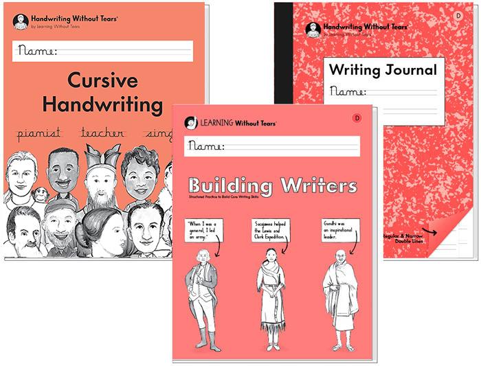 3rd Grade Student Bundle: Cursive Handwriting + Building Writers D + Writing Journal D