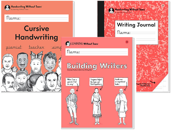 3rd Grade Student Bundle: Cursive Handwriting + Building Writers D + Writing Journal D