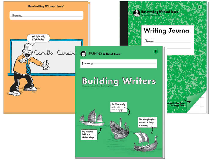5th Grade Student Bundle: Can-Do Cursive + Building Writers F + Writing Journal F