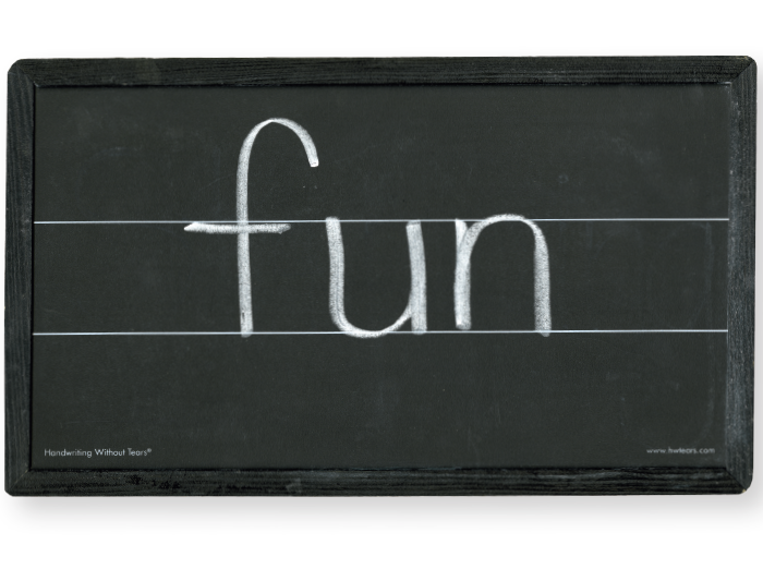 Blackboard with Double Lines