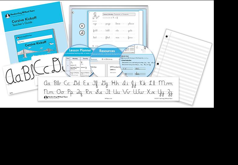 Cursive Kickoff Teacher Kit A with Teacher's Guide