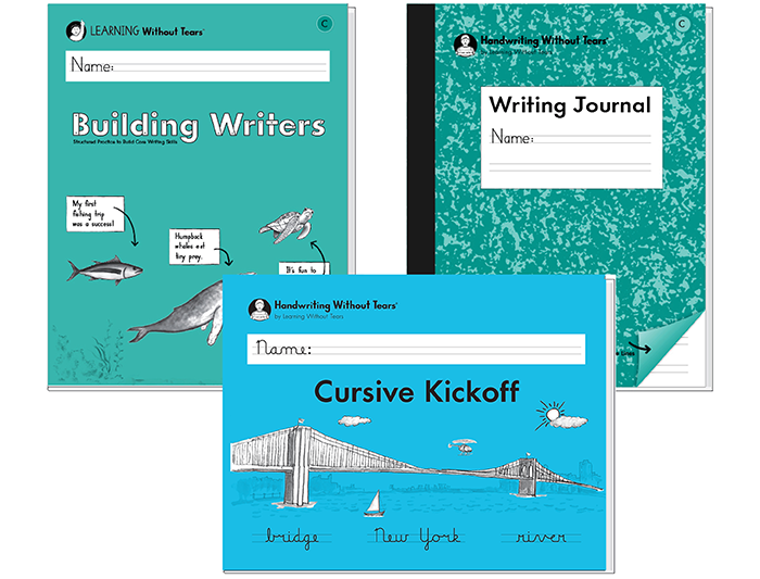 2nd Grade Student Bundle C: Cursive Kickoff + Building Writers C + Writing Journal C