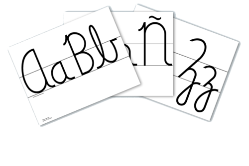 Cursive Wall Cards (Spanish)
