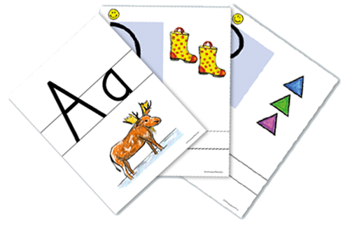Color Print & Number Wall Cards (Spanish)