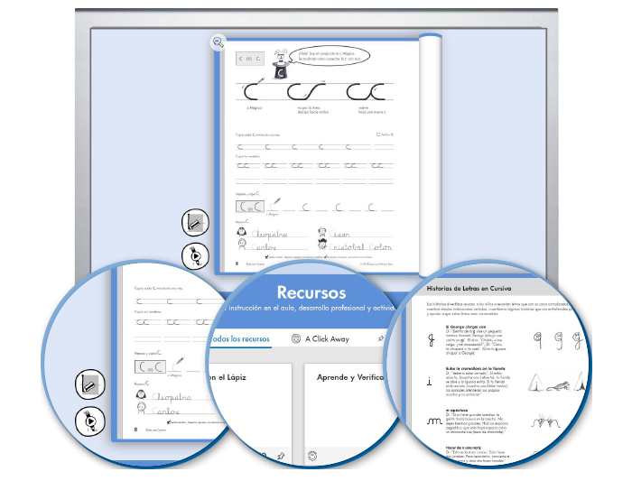 HITT (Spanish): The Handwriting Interactive Teaching Tool™ - 4th Grade (1-year educator license)
