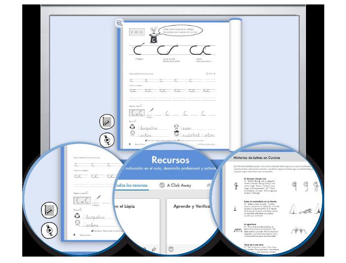 HITT (Spanish): The Handwriting Interactive Teaching Tool™ - 4th Grade (1-year educator license)