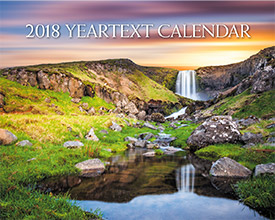 2018 Yeartext Wall Calendar - Front Cover