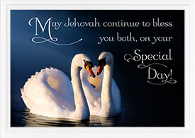 Anniversary Card With Swans
