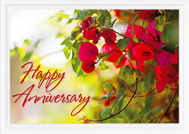 Anniversary Card With Flowers