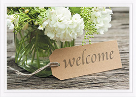 Baptism Card-Welcome