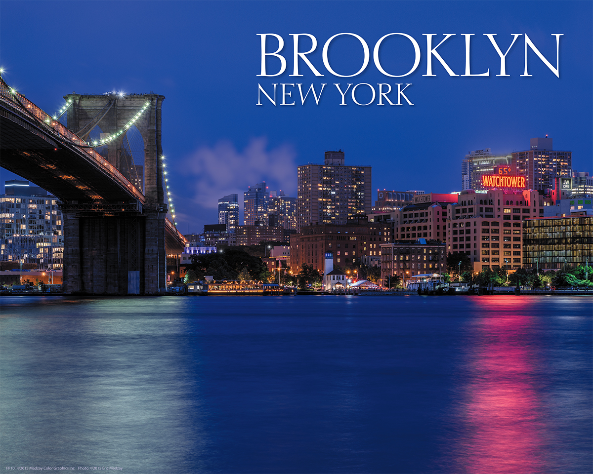 Brooklyn, New York Framing Print, For Home: Madzay Color Graphics