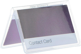 Two-Pocket Contact Card Holder