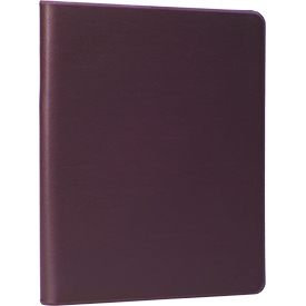 Deluxe Magazine and Tract Holder - Plum