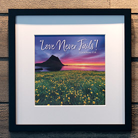 Love Never Fails Framing Print - Frame Not Included