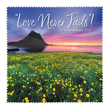 Love Never Fails Microfiber Cloth