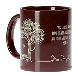One Day Closer Mug - Micah 4:4