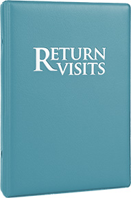 Return Visit Binder-Turquoise