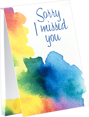 Sorry I Missed You Sticky Notes - Watercolor