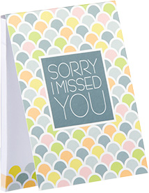 Sorry I Missed You Sticky Notes - Multicolor