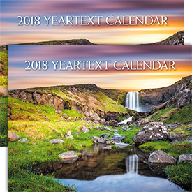 Set of 2 English 2018 Yeartext Wall Calendar
