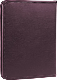 Zippered Tablet and Literature Portfolio - Plum