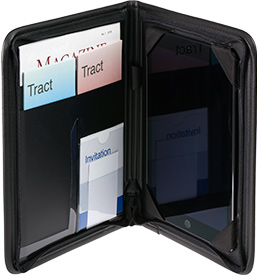 Zippered Tablet and Literature Portfolio with literature