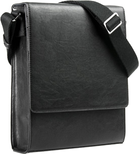 Vertical Messenger Bag Angled View