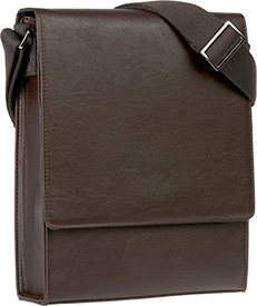 Vertical Messenger Bag - Brown