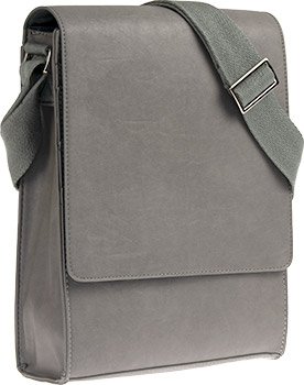 Vertical Messenger Bag - Grey