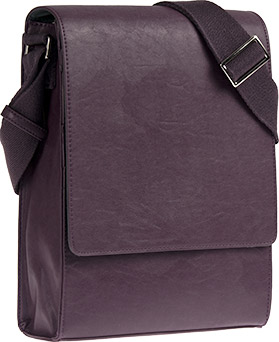 Vertical Messenger Bag - Plum