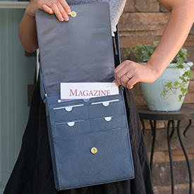 Vertical Messenger Bag with literature