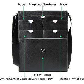 Vertical Messenger Bag Pocket Description