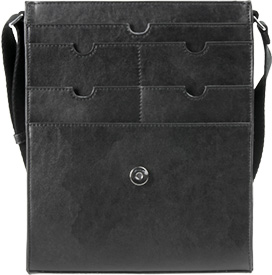 Vertical Messenger Bag Open Front