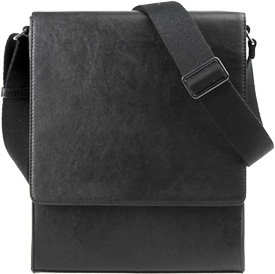 Vertical Messenger Bag Closed Front